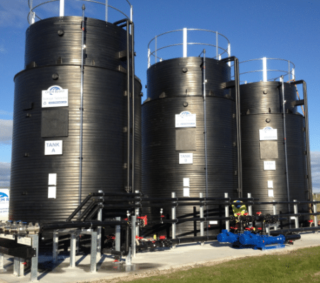 025 thermoplastic chemical storage tanks install 1